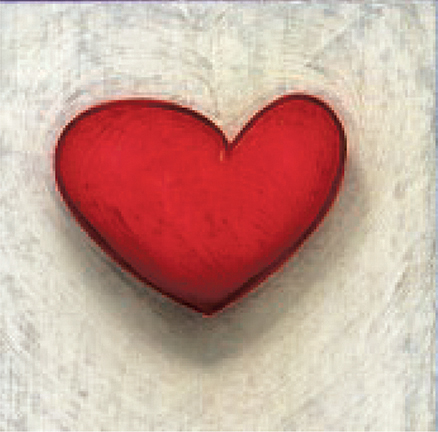 Steve Elkin's Heart from Murray Archibald's Heartbeats Painting