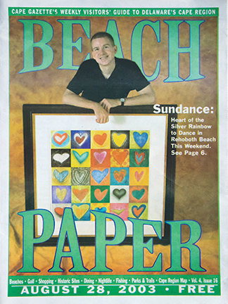 Beach Paper Cover Photo of Murray Archibald and the Original of Heartbeats