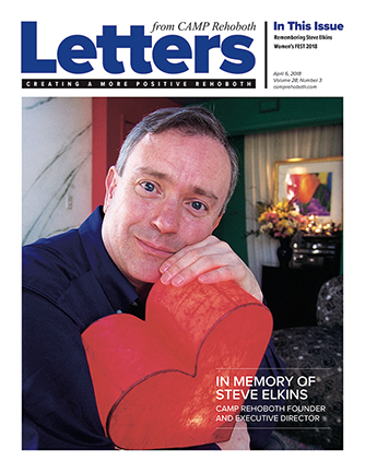 April 6, 2018 - Cover of Letters from CAMP Rehoboth