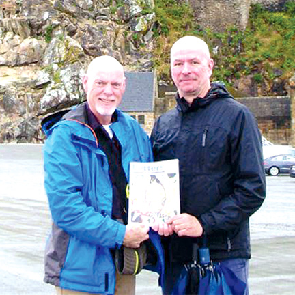 Paul Lindsey and Richard Gamble in Mont Saint Michel