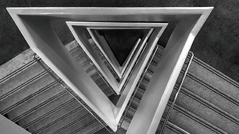 Stairway Triangles by Jennie Keith