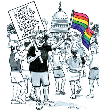 Equality March Cartoon by Kathleen Fitzgerald