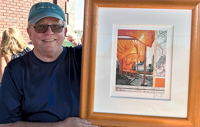 Lee Mills with Sketch of The Gates