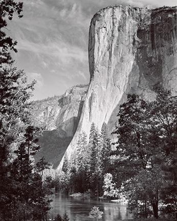 El Capitan, Yosemite National Park, California, 1952; Photograph by Ansel Adams.