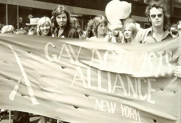 Dottie Cirelli at a March in the 1970s