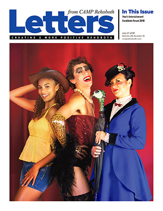 July 27, 2018 - Cover of Letters from CAMP Rehoboth