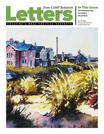 July 13, 2018 - Cover of Letters from CAMP Rehoboth