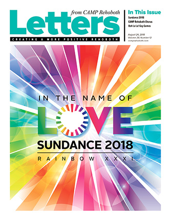 August 24, 2018 - Cover of Letters from CAMP Rehoboth