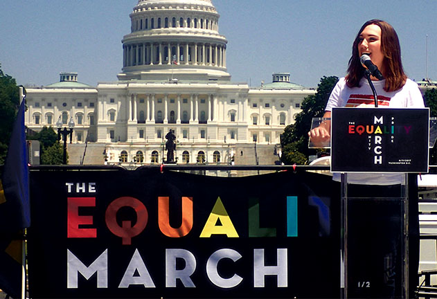 Sarah McBride - 2017 March for Equality in Washington DC