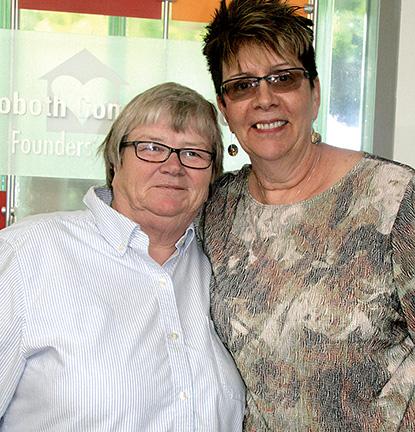 Mickie McManamon and Janet Idema at CAMP Rehoboth