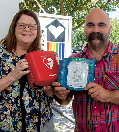 Monica and Sal AED donation