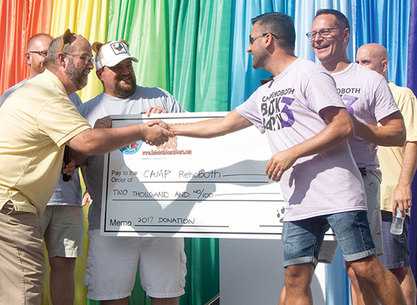 Block Party 3 - Rehoboth Beach Bears Check Presentation