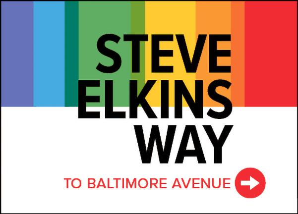Steve Elkins Way sign