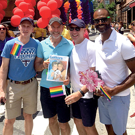 Letters at NYC Pride - Mark Pipkin, Joe Filipek, Karl Zoric, Larry Richardson