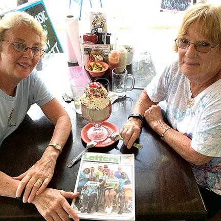 Nan Flesher and Joie Rake, Sanibel Island, Florida