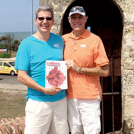 Michael Warns and Rick Freda in Cartagena, Columbia.