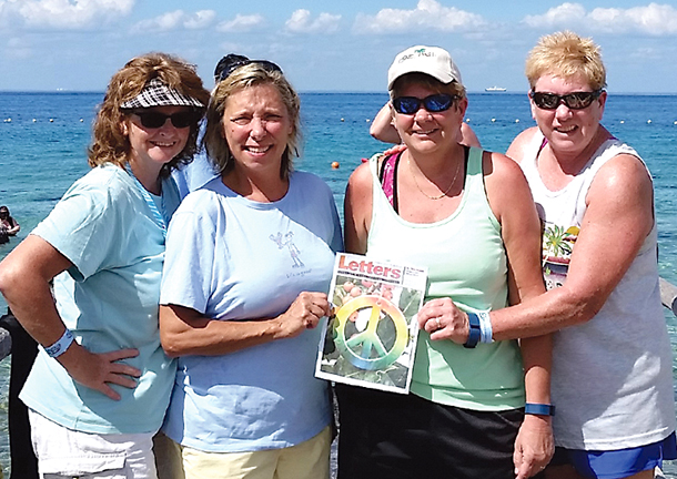 Cindy Scott, Sandy Sommerfield, Karen Dorris, and Deb Dorris in Cozumel, Mexico