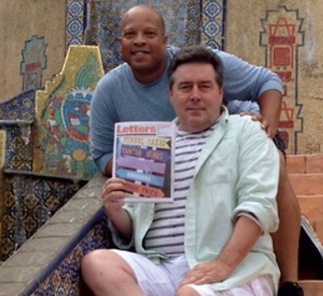 Skip Claiborne and Jim Ryan in Mexico
