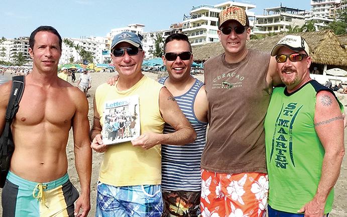 Fred Gray, Bob Hoffer, Jeffery Myers, Sean Albright and Max Dick in Puerto Vallarta, Mexico.