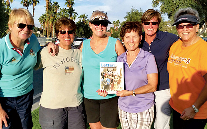 Sandy Oropel, Linda Frese, Margie Moore, Sherie Mixel, Donna Ohle, and Sue Gaggotti in Palm Springs, California.