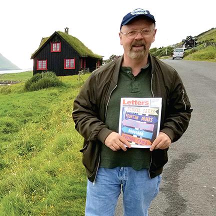 Jerry Filbin in Torshavn, Faroe Islands