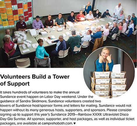 Sundance Mailing Volunteers
