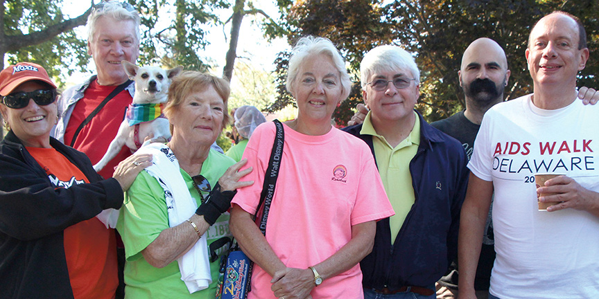 Joie Rake and Nan Flesher at AIDS Walk Rehoboth