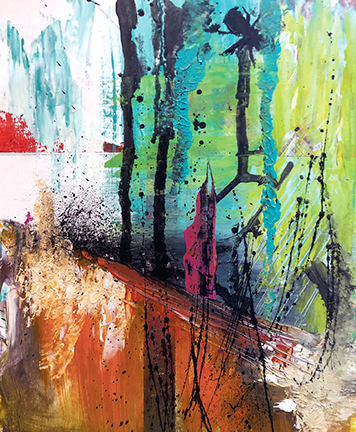 Acrylic Abstract by Adam Goreki