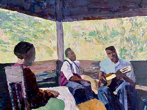 Guiter Lessons in the Shade by Dane Tilghman