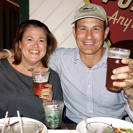 Sam and Mariah Calagione at Dogfish Head