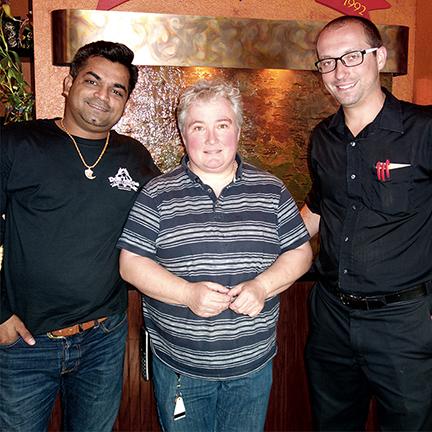 Mit Patel, Linda Wallace, and Alex Mia at Dos Locos