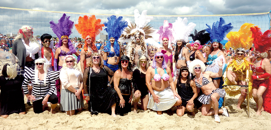 Drag Volleyball on Poodle Beach - Labor Day Weekend 2017