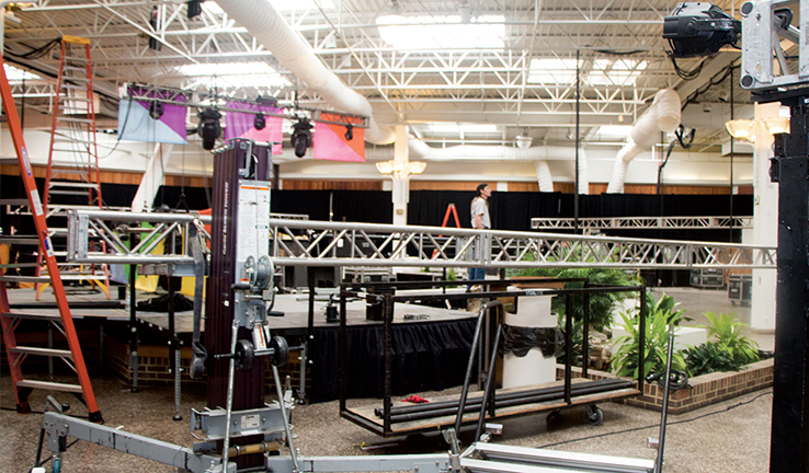 Sundance Setup at Rehoboth Mall 2016