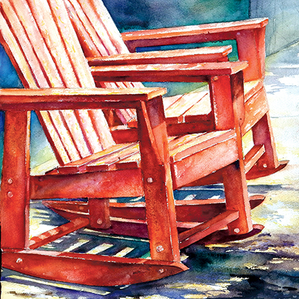 Red Chairs by Rodney Cook