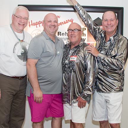 Rick Bane, Steve Hoult, Max Dick, Bob Hoffer at CAMP Rehoboth