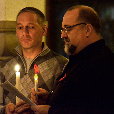 Karl Zoric and Kenny Mahan - World AIDS Day 2013 (Photo by Dan Cook)