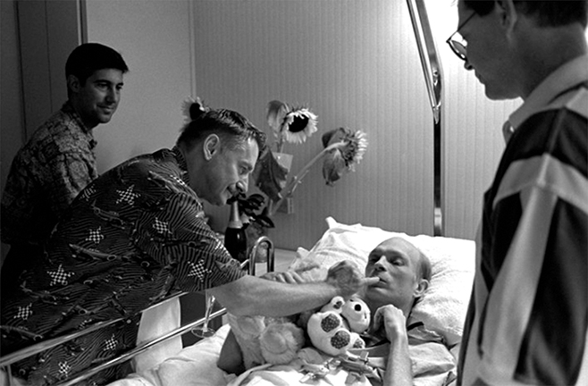 Photo: Michael in Hospice by Vincent Cianni - Part of the AIDS in the City and at Home Exhibit at CAMP Rehoboth