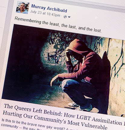Facebook Posting by Murray Archibald