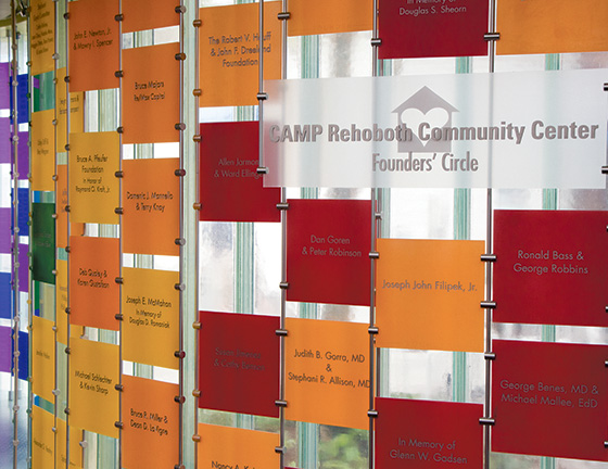 CAMP Rehoboth Community Center Founders' Circle Wall