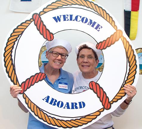Volunteer Appreciation Party - Deb Woods and Leslie Sinclair