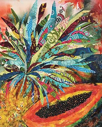 Pineapple Papaya artwork by Rita Poore