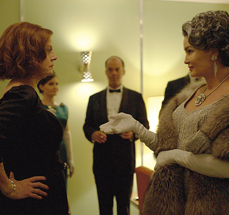 Susan Sarandon and Jessica Lange as Bette and Joan in Feud