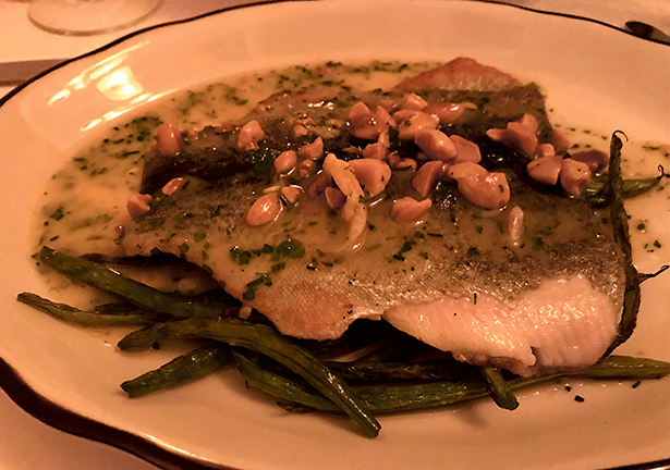Trout Amandine at La Fable in Rehoboth Beach
