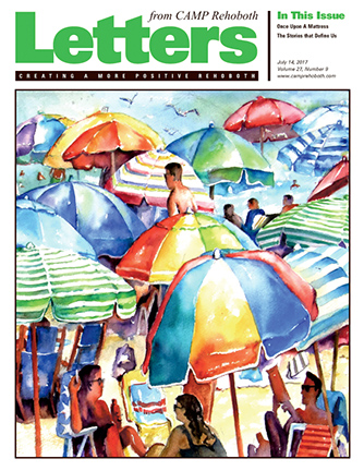 July 14, 2017 - Cover of Letters from CAMP Rehoboth