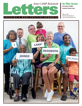 May 5, 2017 - Cover of Letters from CAMP Rehoboth