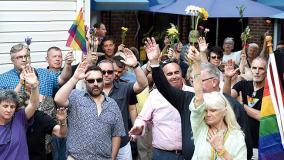 June 12, 2016 - Orlando Vigil in the CAMP Rehoboth Courtyard