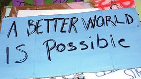 Protest Sign - A Better World is Possible