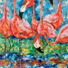 Rita Poore: Flock of Pink