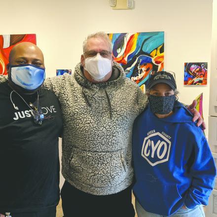 Corey Wheatley, Sean Huber, and Lori Kline at SeanCorey Art Gallery