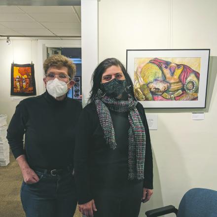 Leslie Sinclair and Anita Broccolino at CAMP Rehoboth Gallery